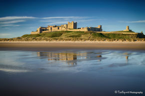 Bamburgh Castle Reflection
