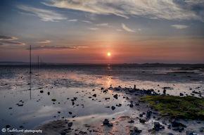 Lindisfarne Causeway Sunset